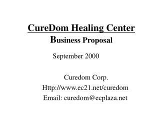 CureDom Healing Center Business Proposal