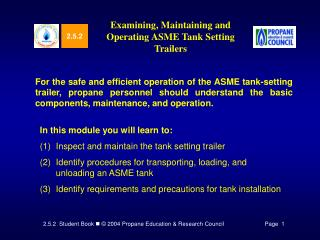 Examining, Maintaining and Operating ASME Tank Setting Trailers