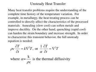 Unsteady Heat Transfer