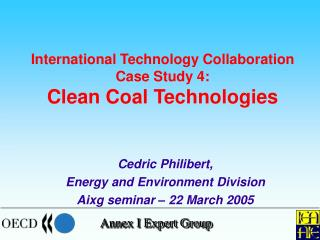 International Technology Collaboration Case Study 4: Clean Coal Technologies