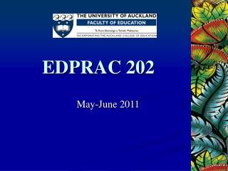 EDPRAC 202