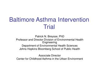 Baltimore Asthma Intervention Trial