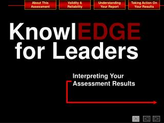 KnowlEDGE  for Leaders