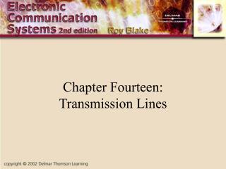 Chapter Fourteen: Transmission Lines