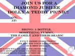 Join us for a    Diamond Jubilee  Dolly  Teddy Picnic