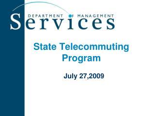 State Telecommuting Program