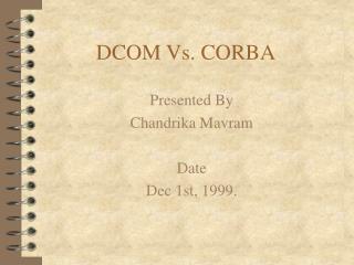 DCOM Vs. CORBA