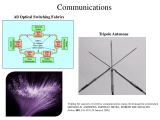 Tripling the capacity of wireless communications using electromagnetic polarization MICHAEL R. ANDREWS, PARTHA P. MITRA,