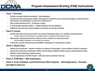 Program Assessment Briefing PAB Instructions