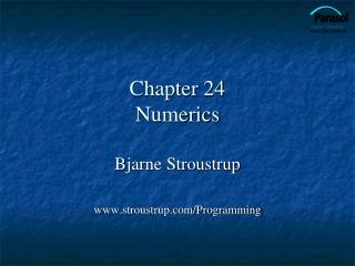 Chapter 24 Numerics