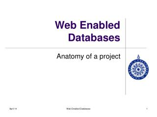 Web Enabled Databases