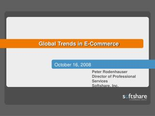 Global Trends in E-Commerce