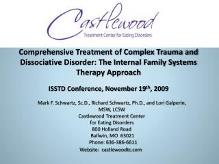Comprehensive Treatment of Complex Trauma and Dissociative Disorder: The Internal Family Systems Therapy Approach    ISS