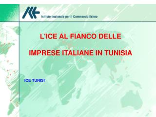 LICE AL FIANCO DELLE   IMPRESE ITALIANE IN TUNISIA