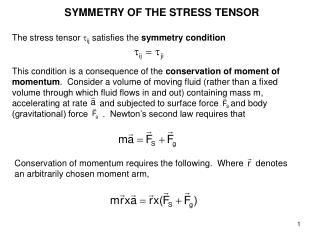 SYMMETRY OF THE STRESS TENSOR