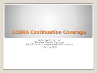 COBRA Continuation Coverage