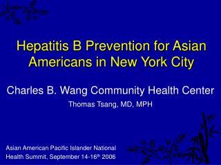Hepatitis B Prevention for Asian Americans in New York City
