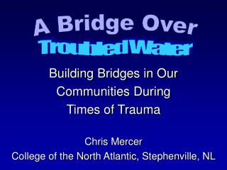 Building Bridges in Our  Communities During  Times of Trauma