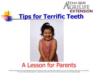 Tips for Terrific Teeth