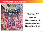 Muscle Mechanisms of Contraction and Neural Control