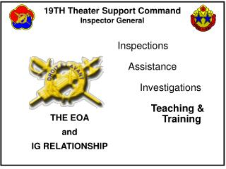 THE EOA  and IG RELATIONSHIP