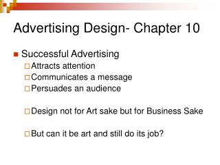 Advertising Design- Chapter 10