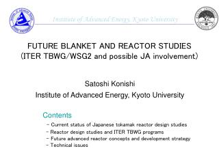 Satoshi Konishi Institute of Advanced Energy, Kyoto University