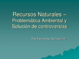 Recursos Naturales   Problem tica Ambiental y Soluci n de controversias