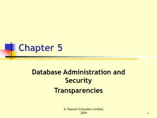 Database Administration and Security Transparencies