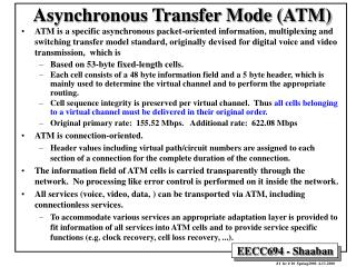 Asynchronous Transfer Mode ATM