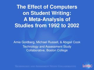 The Effect of Computers on Student Writing: A Meta-Analysis of Studies from 1992 to 2002