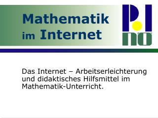 Mathematik im Internet