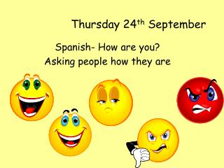 Thursday 24th September