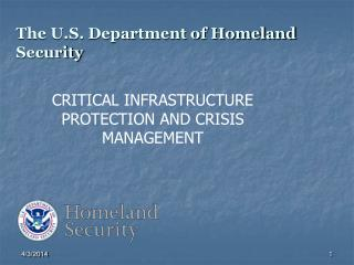 The U.S. Department of Homeland Security