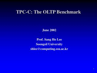 TPC-C: The OLTP Benchmark