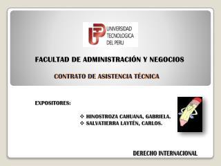 FACULTAD DE ADMINISTRACI N Y NEGOCIOS