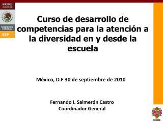 Curso de desarrollo de competencias para la atenci n a la diversidad en y desde la escuela