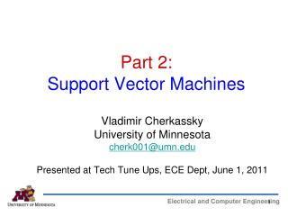 Part 2:   Support Vector Machines