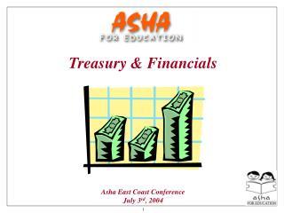 Treasury  Financials