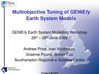Multiobjective Tuning of GENIEfy Earth System Models