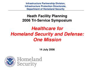 Infrastructure Partnership Division, Infrastructure Protection Directorate, Department of Homeland Security