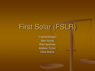 First Solar FSLR