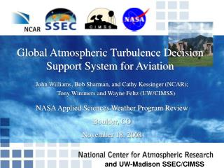 Global Atmospheric Turbulence Decision Support System for Aviation