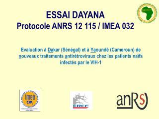 Evaluation   Dakar S n gal et   Yaound  Cameroun de nouveaux traitements antir troviraux chez les patients na fs infect