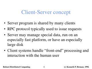 Client-Server concept