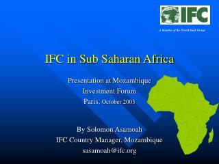 IFC in Sub Saharan Africa