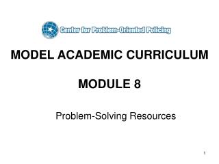 MODEL ACADEMIC CURRICULUM  MODULE 8
