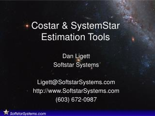 Costar  SystemStar Estimation Tools