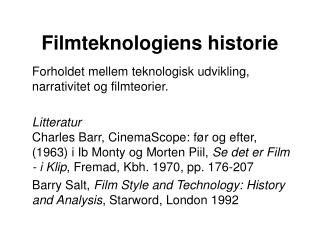 Filmteknologiens historie