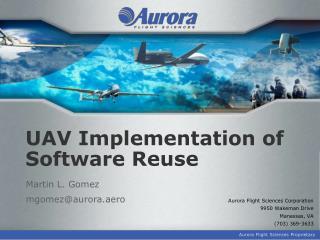 UAV Implementation of Software Reuse